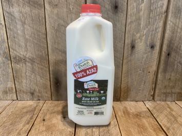 1/2 Gallon Organic Raw Milk (A2A2)