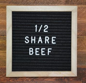 Deposit on 1/2 Beef
