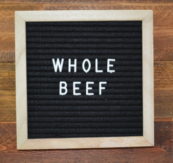 Deposit on a Whole Beef