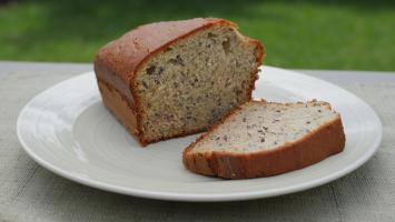 Spelt Banana Bread Minis w/ Brown Butter Glaze