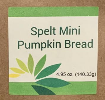Spelt Mini Pumpkin Bread