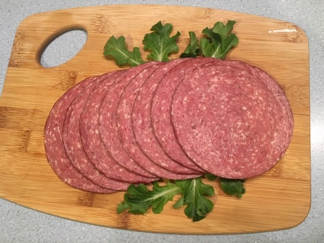 Beef Summer Sausage Sliced