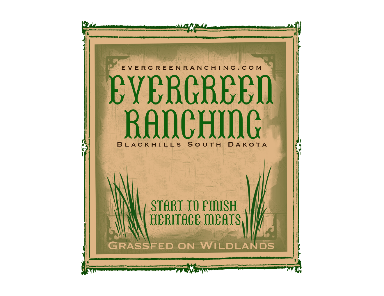 Evergreen Ranching and Livestock LLC Logo