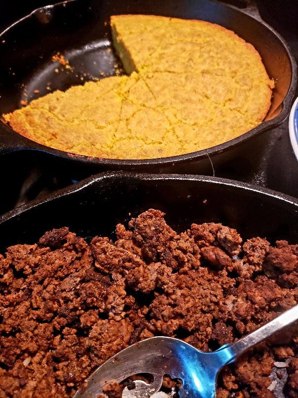 Cornbread and Taco Beef.jpg