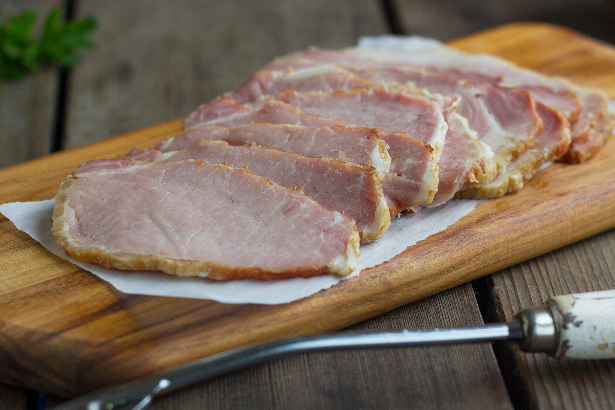 Canadian Bacon - With Sugar - no nitrates - (Please Click And Read Full Ingredient List Before Purchasing)