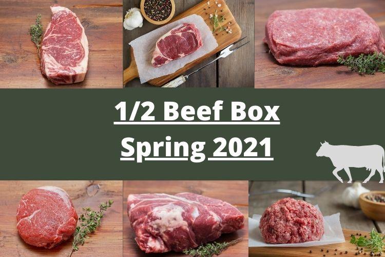 1/2 Beef Box - Spring 2021