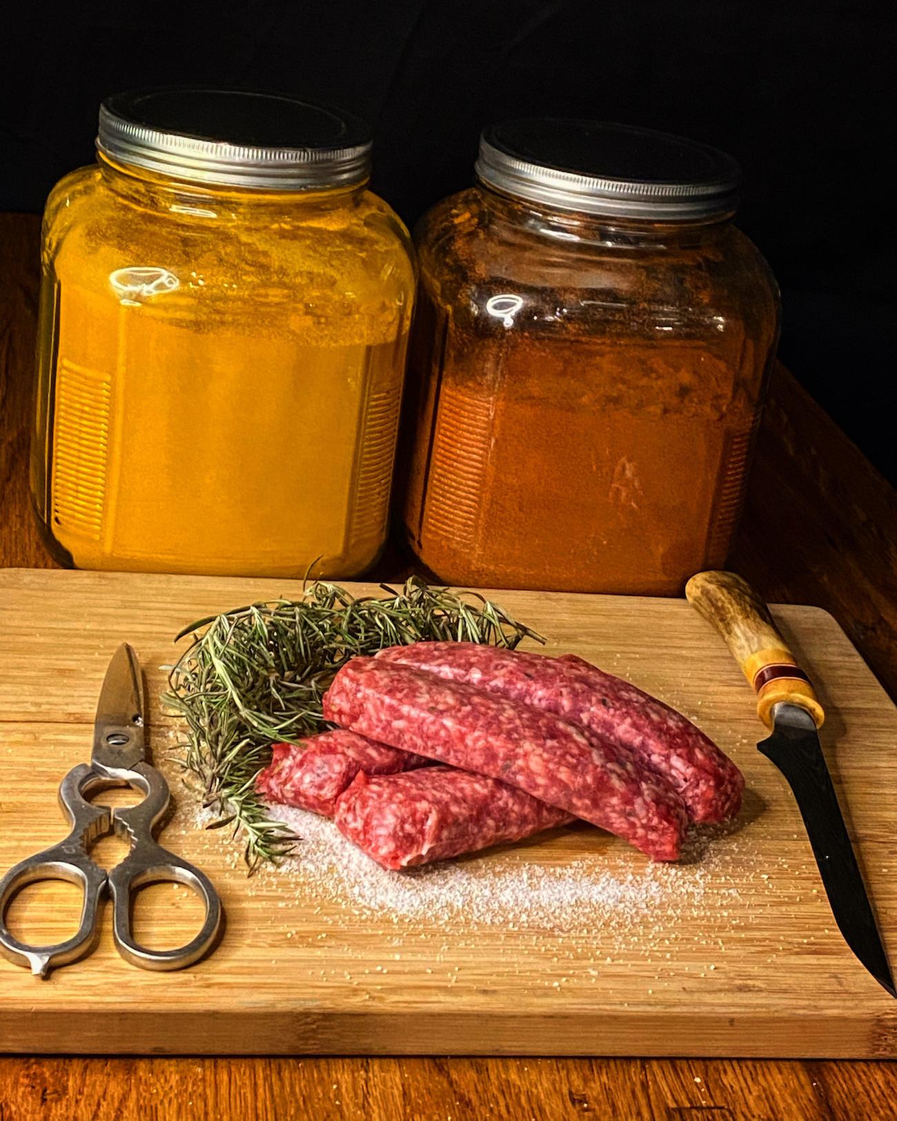 Lamb Sausage Grill