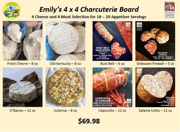 Emily's 4x4 Charcuterie Board