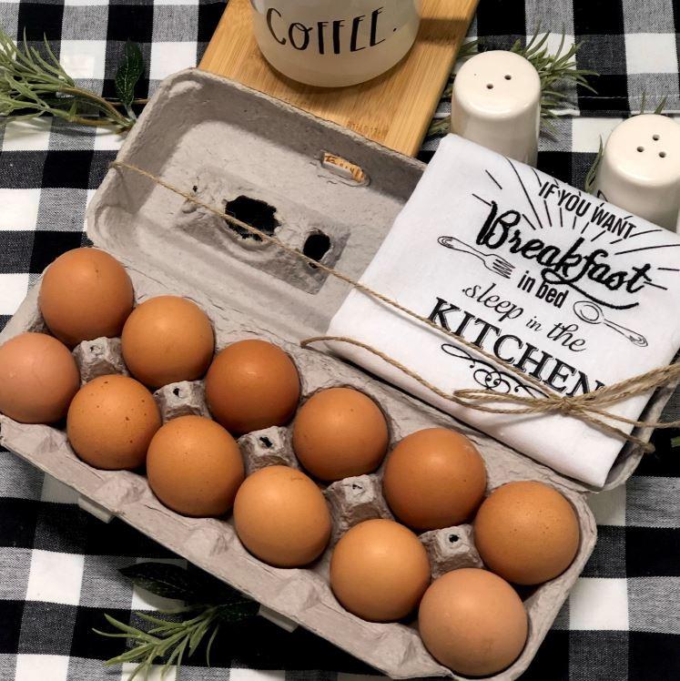 Free Range Amish Brown Eggs 1 dozen