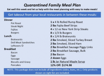 Quarantined Family Meal Plan