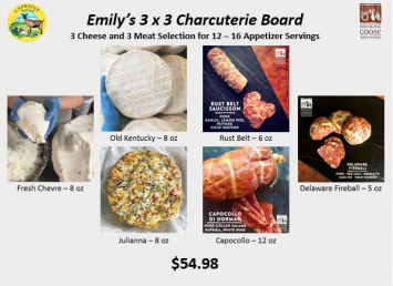 Emily's 3x3 Charcuterie Board