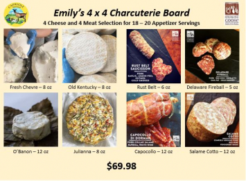 Emily's 4x4 Charcuterie Board