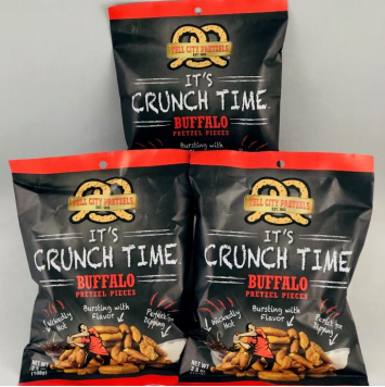 Buffalo Pretzel Pieces - 3 Snack Bags