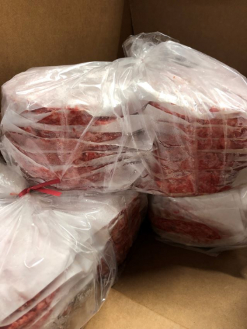 8 oz: 48 ct. BAGGED Case (24 lb) Beef Patties