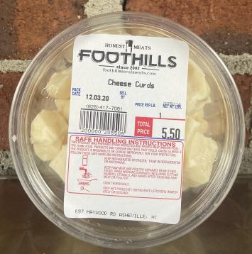 English Farmstead Dairy Cheese Curds
