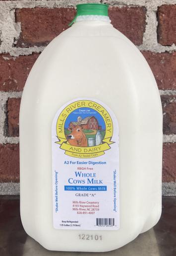 Mills River Creamery Whole Milk Gallon