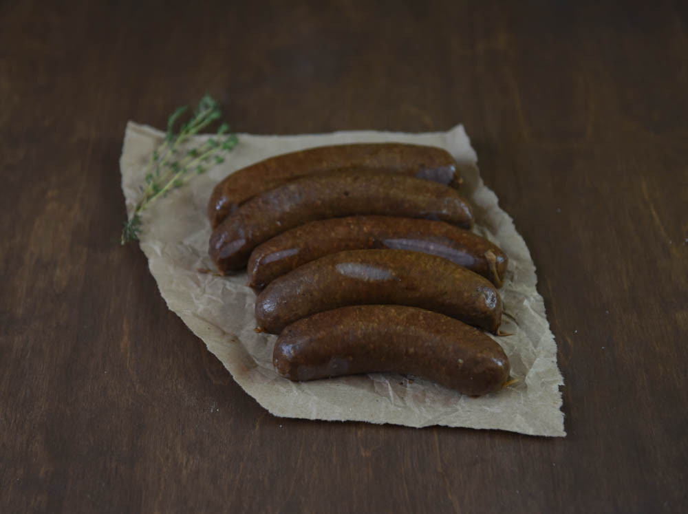 Beef Garlic Bratwurst Links, Smoked Wholesale