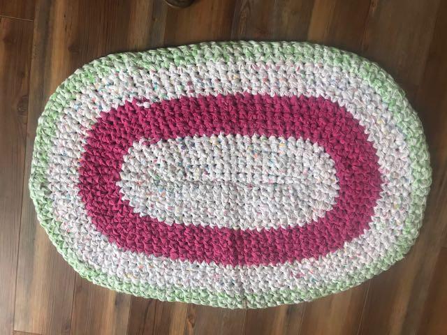 Melon Fest Crochet Rug