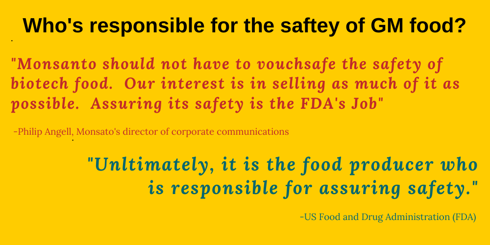 Who Regulates GM Foods?