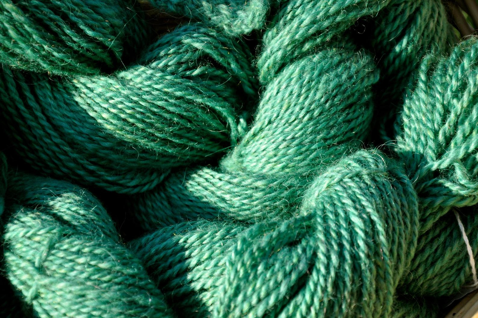WoodSong™ Charlotte's Yarn Wool w/Mohair - Jade Green
