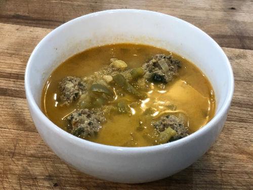 Saffron Meatball Soup