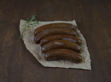 Smoked Garlic Bratwurst Links (beef) BULK