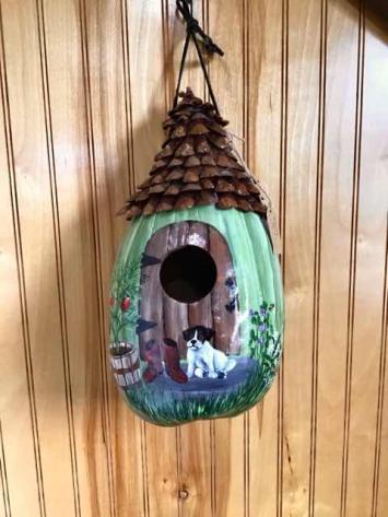 Painted Garden Cottage Gourd
