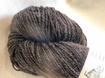 Brown - Natural Finnsheep CVM Fingering Weight Yarn