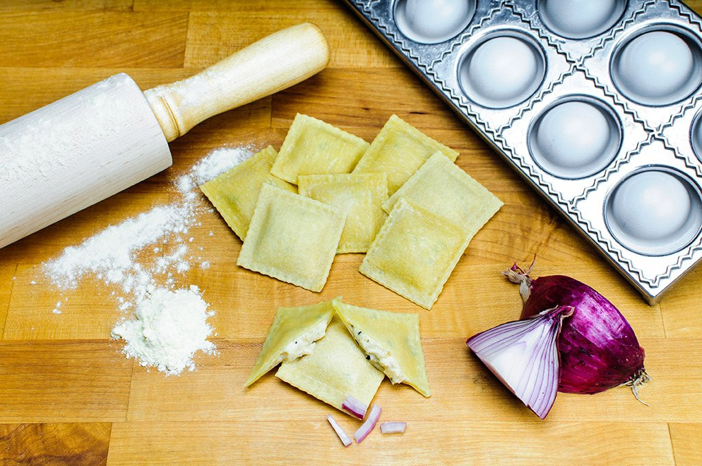Endless Pastabilities - Sweet Onion Gruyere Ravioli in Egg Dough