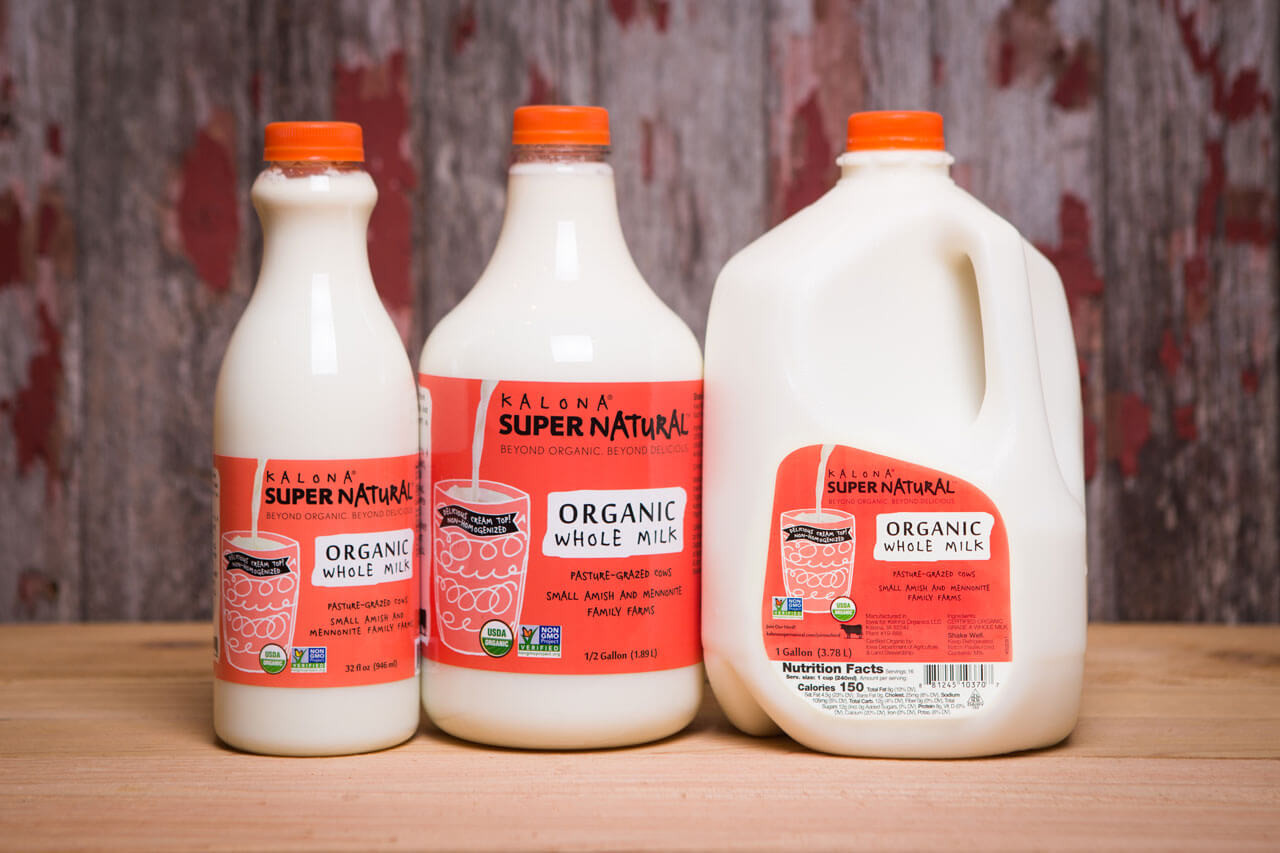 Kalona SuperNatural - Milk, Organic Whole Gallon (128oz)