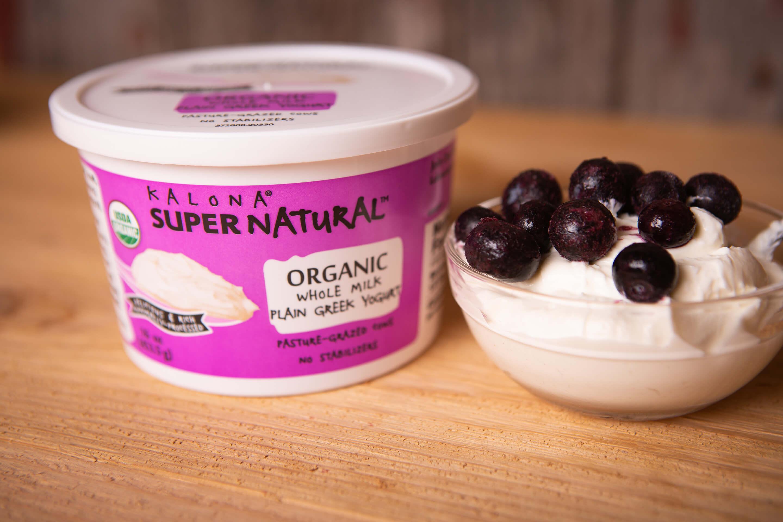 Kalona SuperNatural - Greek Yogurt, Plain Organic Whole Milk (16oz)