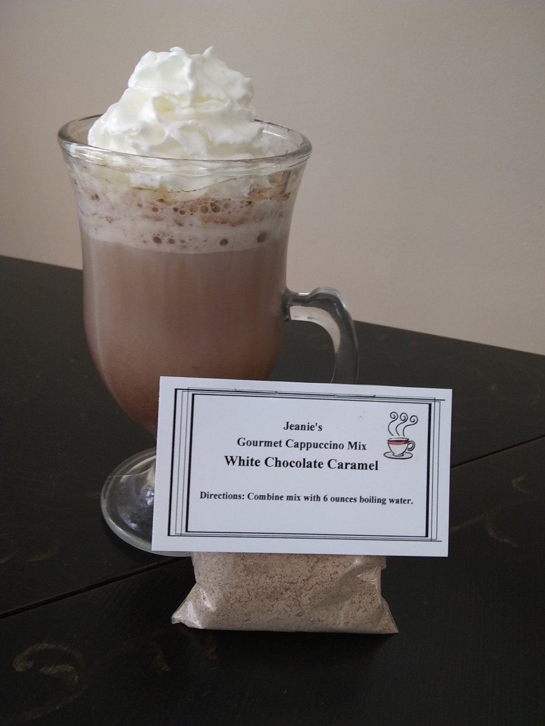 Jeanie's Gourmet White Chocolate Caramel Cappuccino