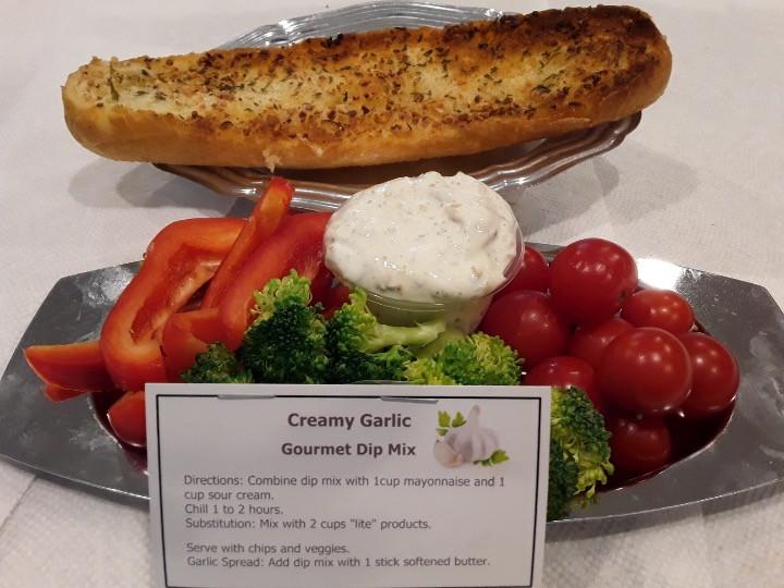 Jeanie's Creamy Garlic Gourmet Dip Mix