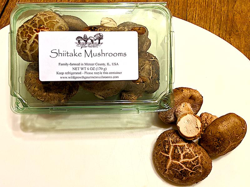 Wild Growth Gourmet Mushrooms - Shiitake Mushrooms, 6oz