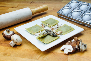 Endless Pastabilities - Wild Mushroom Ravioli in Cracked Pepper Egg Dough