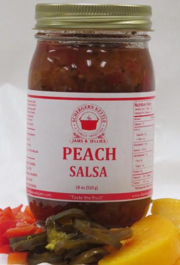 Scherger's Kettle - Peach Salsa - 18oz