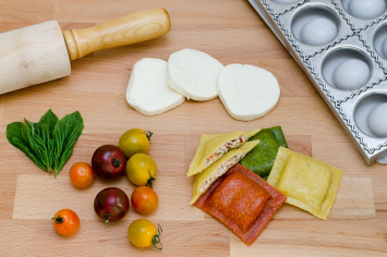 Endless Pastabilities - Heirloom Tomato & Fresh Mozzarella Ravioli in Basil