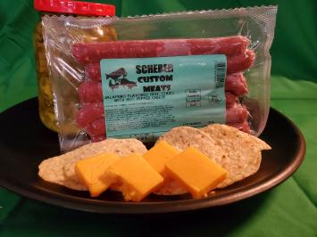 Scherer Custom Meats - Beef Jalapeno Pepperjack Snack Stick