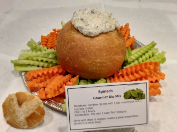 Jeanie's Spinach Gourmet Dip Mix