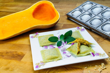 Endless Pastabilities - Harvest Squash Ravioli in Sage Parsley