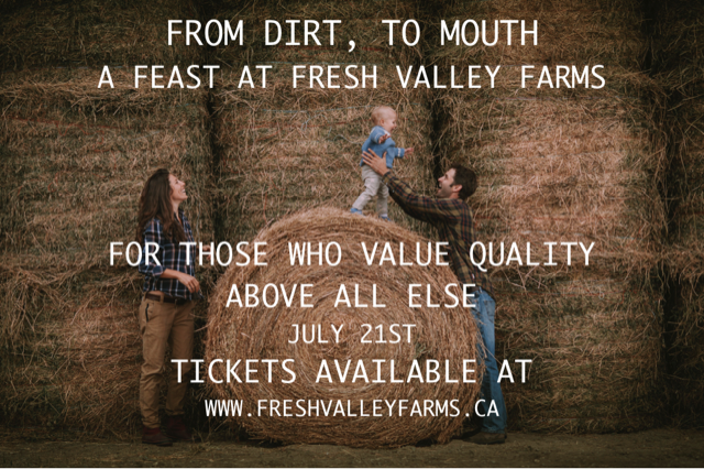 Dirt to Farm - a farm to table meal at Fresh Valley Farms