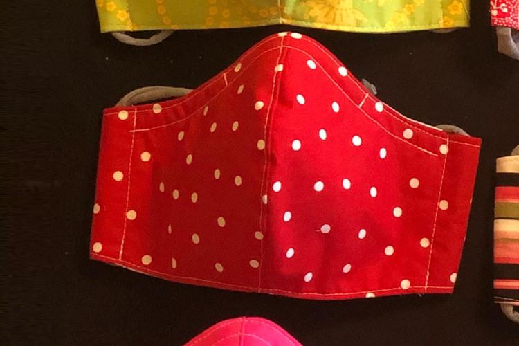 Face Mask, Ladies Red Polka Dot