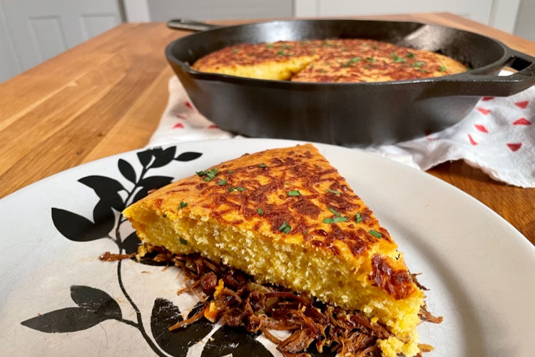 Pulled Pork & Cornbread Pot Pie