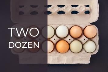 Eggs, two dozen