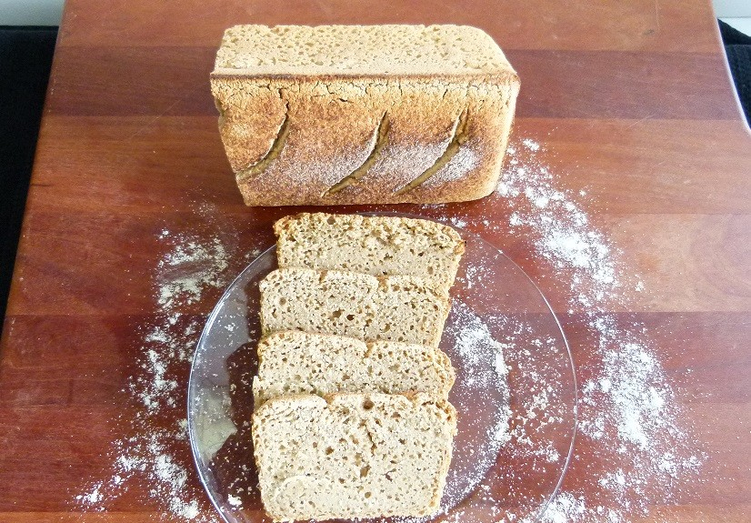 Gluten-Free and Sourdough Organic Sorghum and Millet Bread'