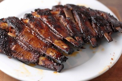 Lamb Riblets in Mustard Rosemary Garlic Paste  by Shannon Hayes.