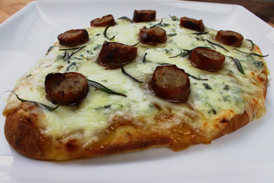 Sweet and Smoky Pork Sausage Pizza