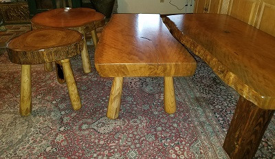 Elephant Brand Stools and Coffee Tables