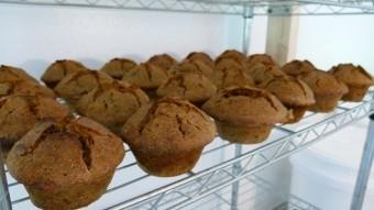 100% Sourdough Organic Banana, Pecan Muffins