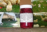 Beet Horseradish Sauerkraut